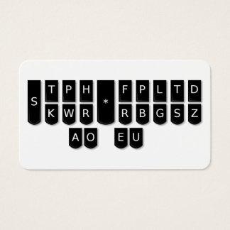 Gerichtsschreiber schwarze Steno Visitenkarte