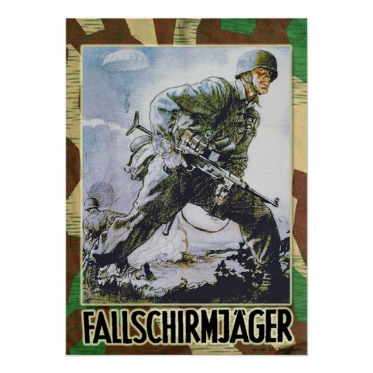 German Fallschirmjaeger Poster