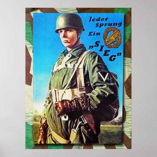 German Fallschirmjaeger Poster