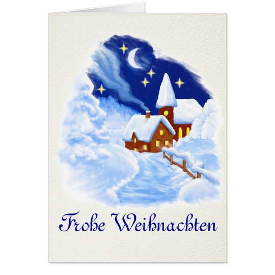 German Merry Christmas Greeting Card Karte