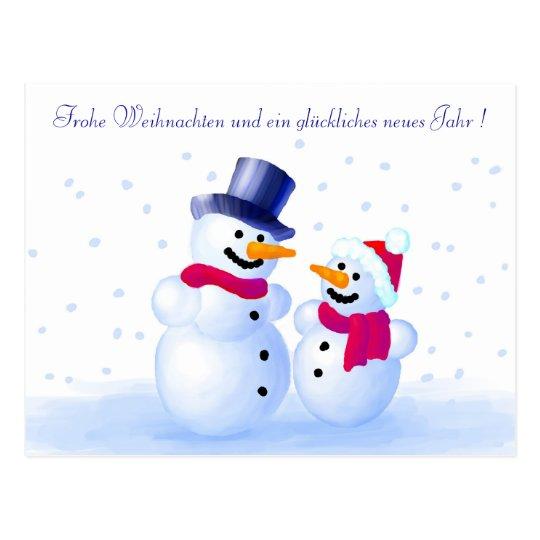 German Merry Christmas Postcard Postkarte