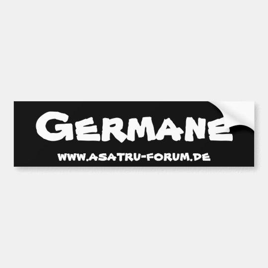 Germane - Asatru Forum Autoaufkleber