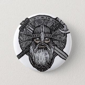 germanische nordische Skandinavier Wikinger-Mannes Runder Button 5,7 Cm