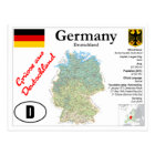 Germany Map Postcard Postkarte