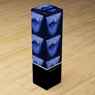 Geröntgte 3 - Elektromagnetisches Blau Weinbox