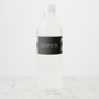 Geröntgte Vorlage Wasserflaschenetikett
