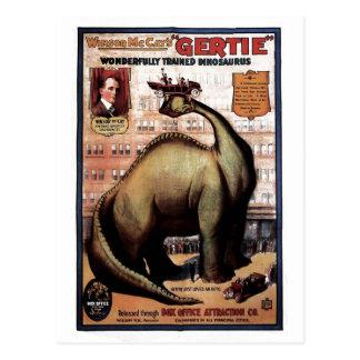 Gertie der Dinosaurier Postkarte