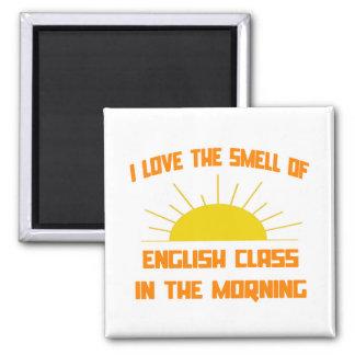 Geruch der englischen Klasse morgens Quadratischer Magnet