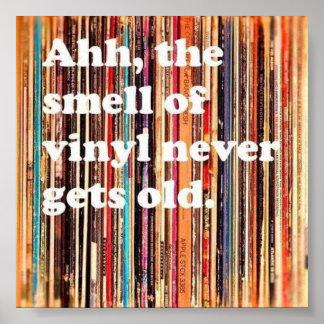 Geruch des Vinylplakats Poster