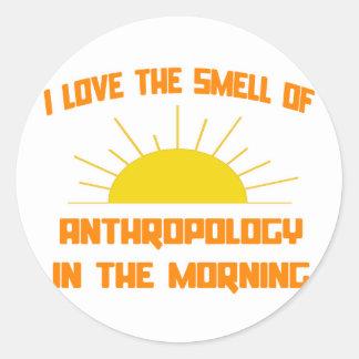 Geruch von Anthropologie morgens Runder Aufkleber