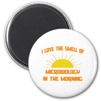 Geruch von Mikrobiologie morgens Runder Magnet 5,1 Cm