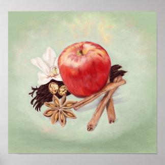 Gerüche des Herbst-Stilllebens Poster