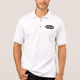 Gerundete schwarze Form fertigen kundenspezifisch Polo Shirt