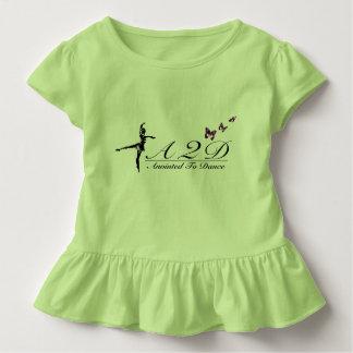 Gesalbt, um Kleinkind-Rüsche-T-Stück zu tanzen Kleinkind T-shirt