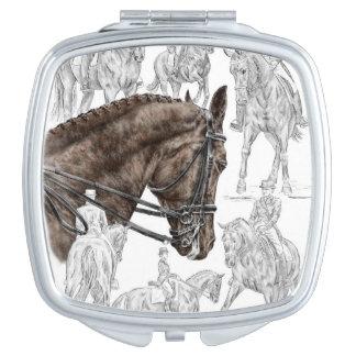 Gesammelte Dressage-Pferde FEI Schminkspiegel