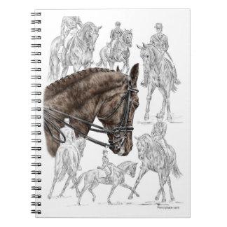 Gesammelte Dressage-Pferde FEI Spiral Notizblock