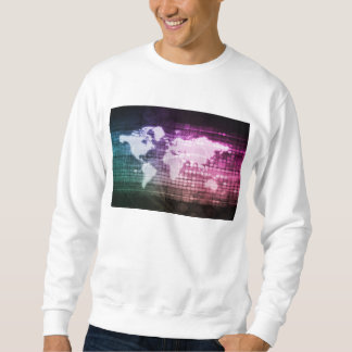 Gesamt-Netzwerk Verbindung und integriert Sweatshirt