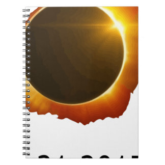 Gesamt--Solar-Eklipse Notizblock