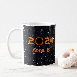 Gesamtdatums-sternenklarer Himmel der Kaffeetasse