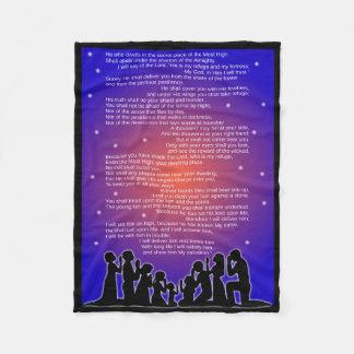 Gesamte Fleece-Decke des Psalm-91 Fleecedecke