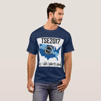 GesamtEklipse-neue Solarweise 2017, das Datum zu T-Shirt