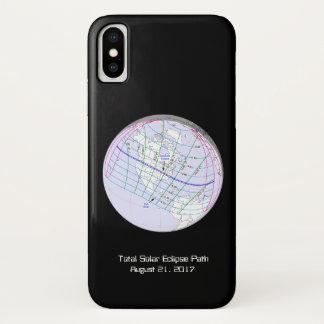 Gesamtglobaler Weg der Sonnenfinsternis-2017 iPhone X Hülle