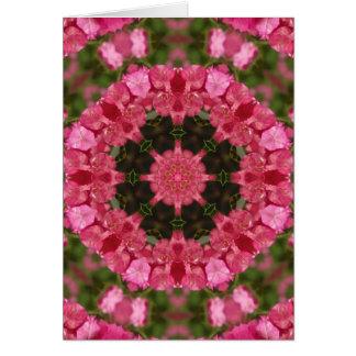 Gesamtheit L rosa BlumenMandala Karte