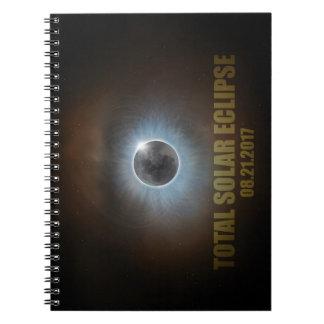 Gesamtkorona-Text-Farbe der Sonnenfinsternis-2017 Notizblock
