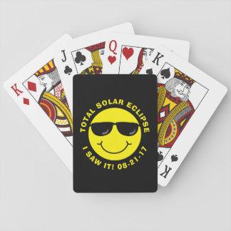 Gesamtsolareklipse-cooler Smiley Spielkarten