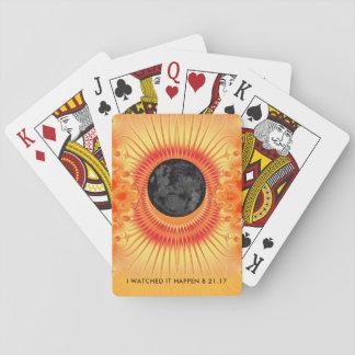 Gesamtsolareklipse-Fraktal-Kunst Spielkarten
