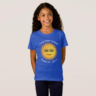 Gesamtsolareklipse-T - Shirt - königliches Blau