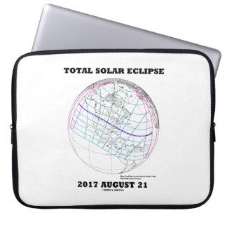 GesamtSonnenfinsternis 2017 am 21. August Laptop Sleeve