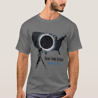 GesamtSonnenfinsternis 2017 mit transparenter T-Shirt