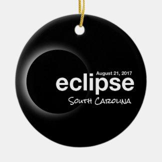 GesamtSonnenfinsternis 2017 - South Carolina Rundes Keramik Ornament