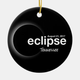 GesamtSonnenfinsternis 2017 - Tennessee Keramik Ornament