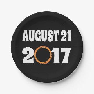GesamtSonnenfinsternis am 21. August 2017 Pappteller