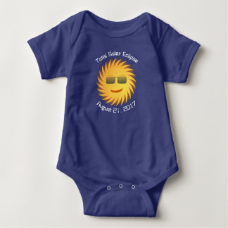 GesamtSonnenfinsternis-Baby-Bodysuit - Königsblau Baby Strampler