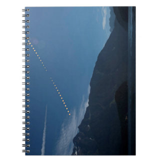 GesamtSonnenfinsternis-Mountain Time-Versehen Notizblock