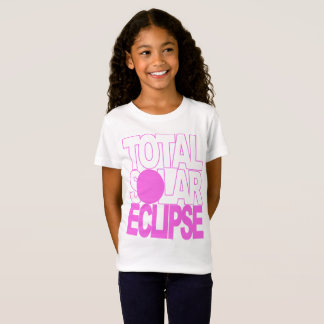 GesamtSonnenfinsternis scherzt rosa Reihe T-Shirt