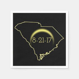 GesamtSonnenfinsternis South Carolina 2017 Servietten