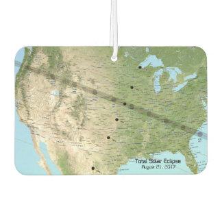 GesamtSonnenfinsternis-Weg-Karte 2017 Lufterfrischer
