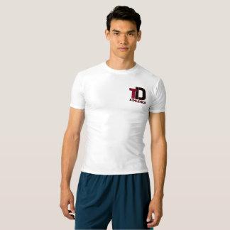 Gesamtwidmungs-Leichtathletikkompressions-Shirt T-shirt