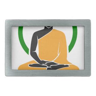 GesamtZen - Frieden, Ruhe, Entspannung Rechteckige Gürtelschnallen
