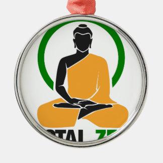 GesamtZen - Frieden, Ruhe, Entspannung Silbernes Ornament