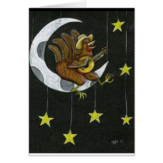 Gesang auf der Mond Greetin Karte