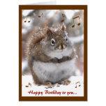 Gesang-Eichhörnchen-Geburtstag Karten