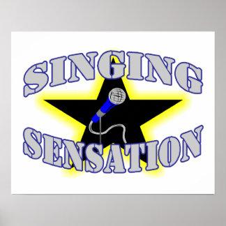 Gesang-Empfindung Poster