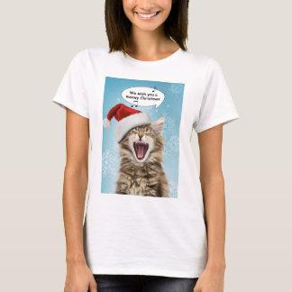 Gesang-Katzen-WeihnachtsT - Shirt