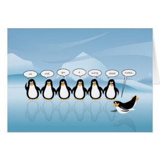 Gesang-Pinguin-Weihnachts-u. neues Jahr-Karte