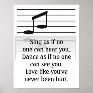 Gesang-Tanzen und Lieben - Kunstdruck Poster